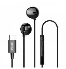 Baseus Encok C16 Type-C Wired Earphones Black|armenius.com.cy
