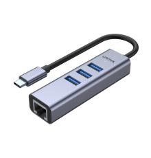 Unitek H1904A USB3.0 Type-C Hub 3x USB & Gb Lan|armenius.com.cy