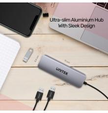 Unitek H1107F Type-C Hub 3x USB3.1 HDMI/SD|armenius.com.cy
