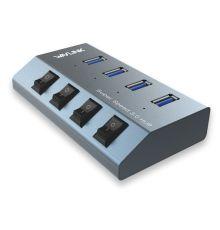 WavLink UH3049 USB3.0 Hub 3port w/Individual Power|armenius.com.cy