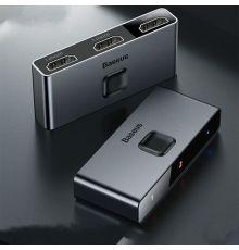 Baseus Matrix HDMI Splitter (2in1 or 1in2) Space Grey|armenius.com.cy