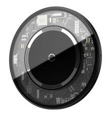 Baseus Simple Magnetic Wireless Charger Transparent Black  Armenius Store