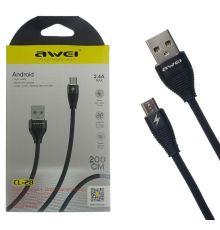 USB Cable Awei CL 28 2.4A|armenius.com.cy