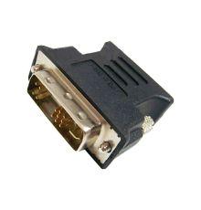 DVI to VGA adapter DVI-A MALE to VGA FEMALE BLACK|armenius.com.cy