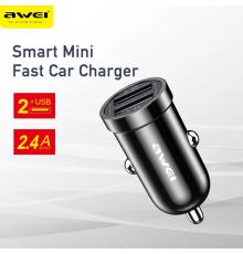 Car Charger Awei C-707 2 USB ports|armenius.com.cy