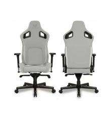 Chair VICTORAGE Bravo Series PU Leather Luxury White| Armenius Store