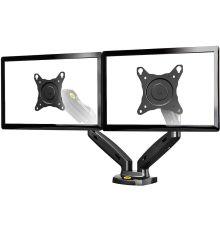 NBMounts F160 Gas Strut Desk Monitor Mount Dual Arms Black