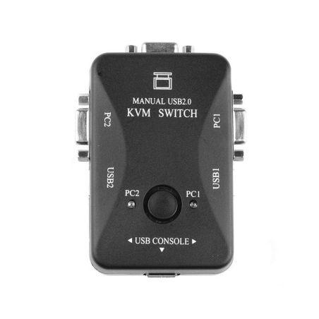 HUB / KVM / Adapters 2 Port KVM VGA SVGA Switch USB 2.0 BOX