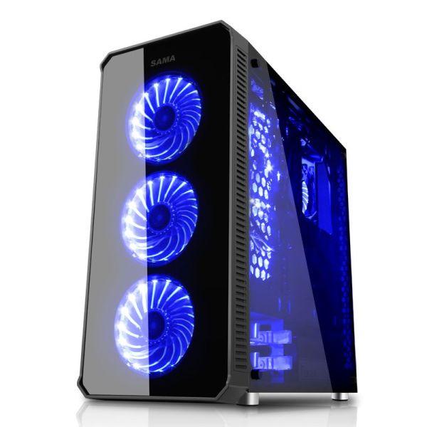 Sama Vanguard Full Tower Tempered Glass|armenius.com.cy