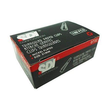 PAPER CLIPS SDI TRIANGULAR 31MM 100 PCS BOX armenius.com.cy
