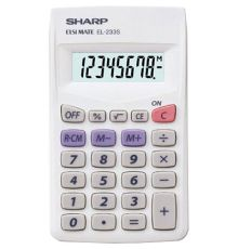 POCKET CALCULATOR SHARP 8 DIGITS|armenius.com.cy