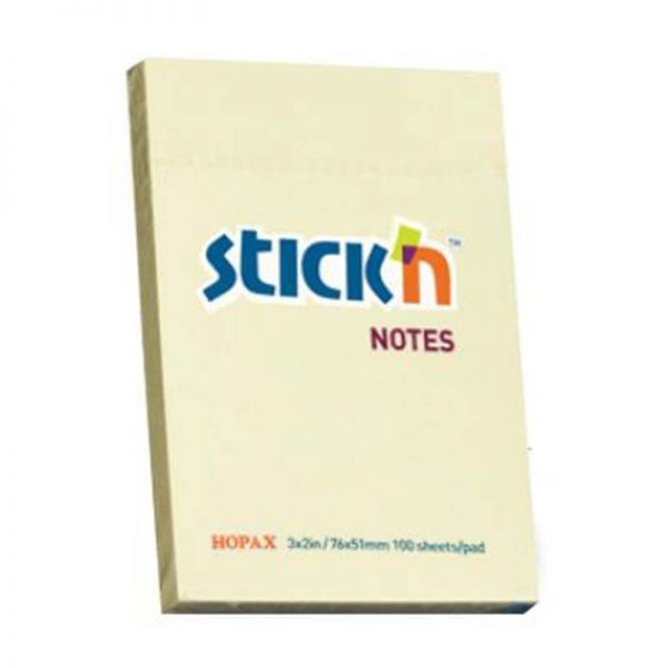 STICK N 76X50MM 100 SHEETS PAD YELLOW armenius.com.cy