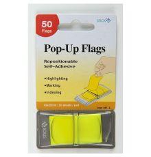 STICK N POP-UP FLAGS 45X25MM 50 SHEETS PAD LEMON| Armenius Store
