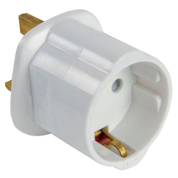 Euro 2 Pin to UK 3 Pin Plug AC Adapter, 13AMP 250V  Armenius Store